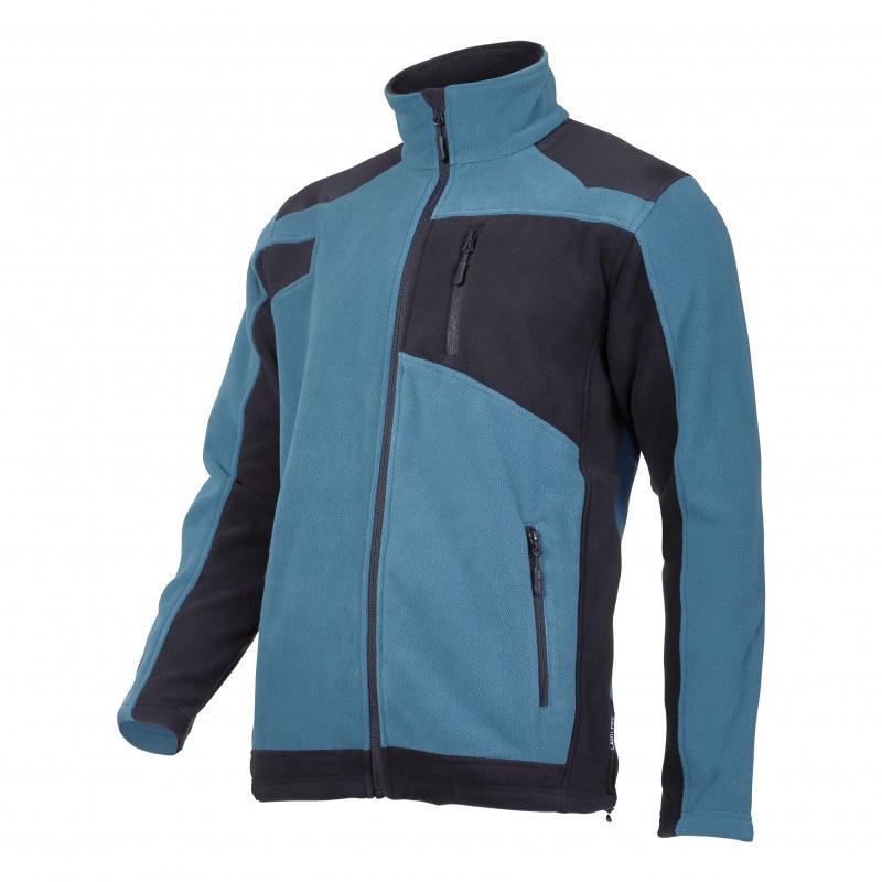 Jacheta Polar cu intaritura, 3 buzunare, talie ajustabila, anti-scamosare, marime L, Albastru/Negru