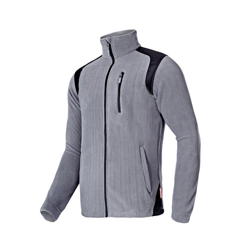 Jacheta Polar cu intaritura, 3 buzunare, talie ajustabila, marime XL, Gri