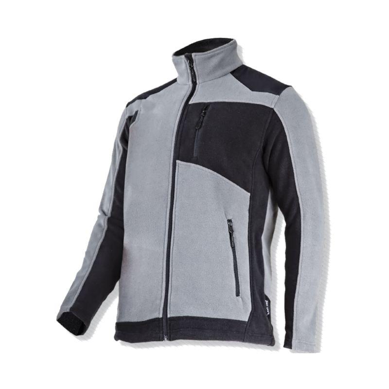 Jacheta polar cu intaritura Lahti Pro, marime XL, poliester, 3 buzunare, talie ajustabila, material Oxford 600D, Gri/Negru 2021 shopu.ro