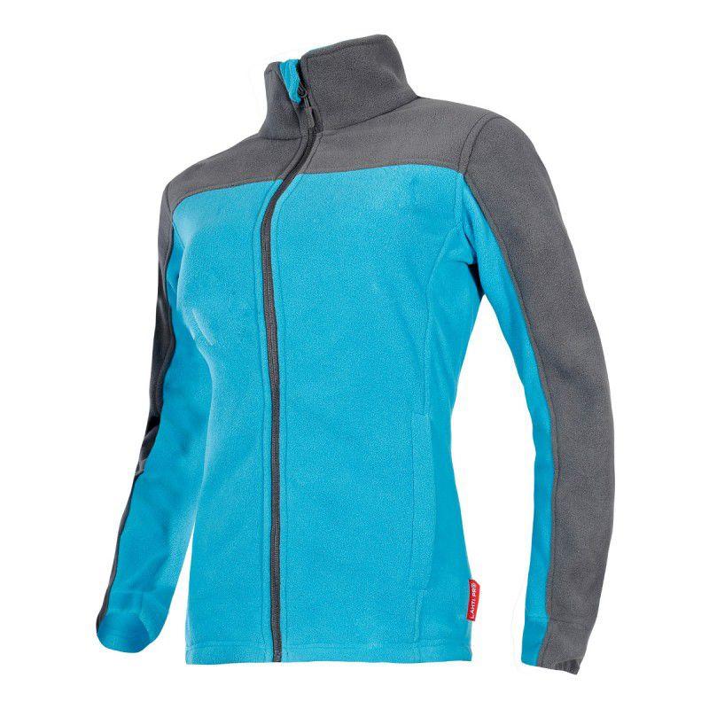 Jacheta Polar dama, 2 buzunare cu inchidere prin fermoar, impermeabila, marime 2XL, Albastru/Gri 2021 shopu.ro