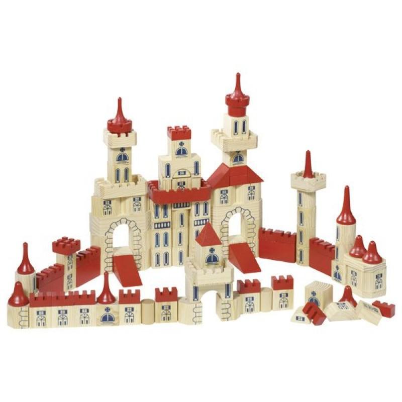 Set de constructie Castel Goki, 150 piese, lemn, 3 ani+ 2021 shopu.ro