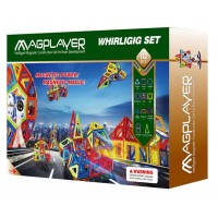 Joc de constructie magnetic Magplayer, 112 piese, stimuleaza gandirea logica