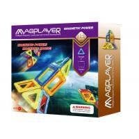 Joc de constructie magnetic Magplayer, 14 piese, 21 х 5 х 22 cm, 3 - 10 ani