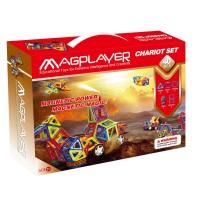 Joc de constructie magnetic Magplayer, 40 piese, 2 x roata dubla
