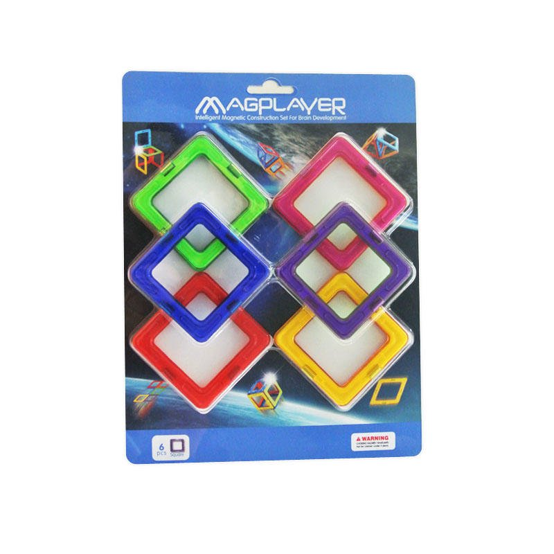 Joc de constructie magnetic Magplayer, 6 piese, 3 - 10 ani 2021 shopu.ro