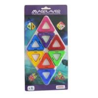 Joc de constructie magnetic Magplayer, 8 piese, stimuleaza gandirea logica