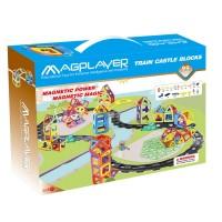Joc de constructie magnetic Magplayer, 99 piese, dezvolta vederea in spatiu