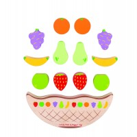 Joc de echilibru Balanta fructelor, 12 fructe, 18 x 7 x 2 cm