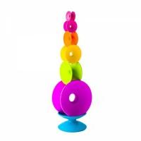 Joc de echilibru Spoolz Fat Brain Toys, 7 bobine colorate