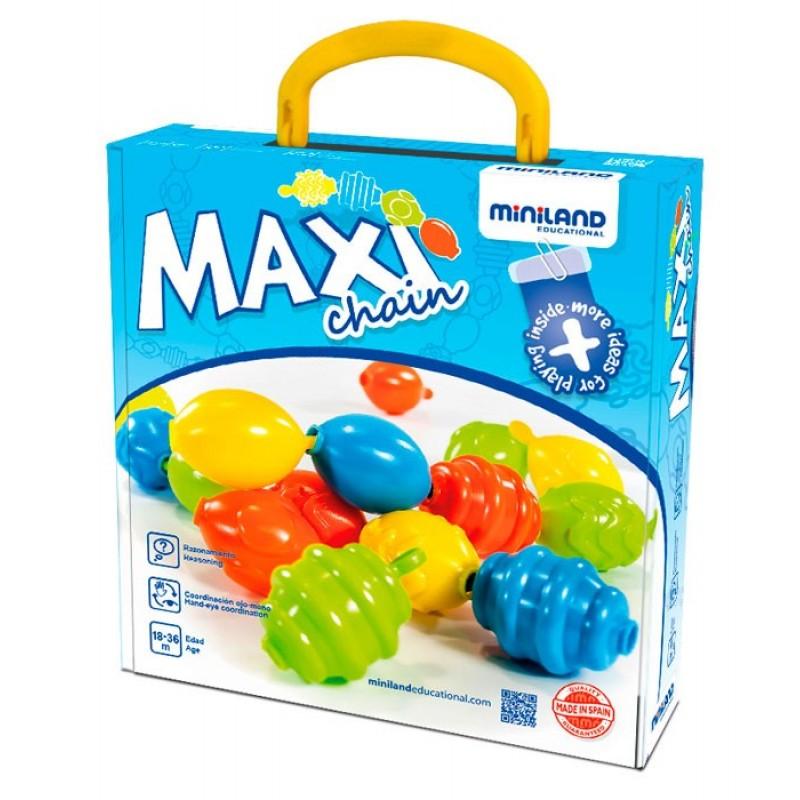 Joc de imbinat Maxichain Miniland, 16 piese 2021 shopu.ro