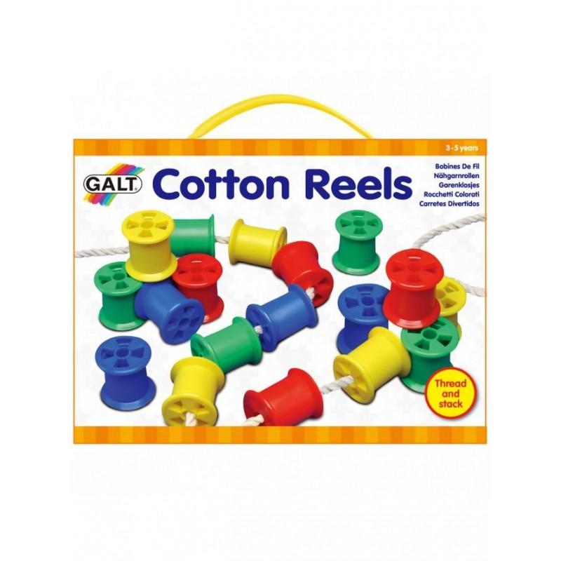 Joc de indemanare Galt Cotton Reels, include 20 de bobine din plastic, 3 ani+ 2021 shopu.ro