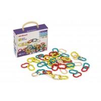 Joc de indemanare cu zale Miniland, 7 cm, 48 piese, 2-5 ani, Multicolor