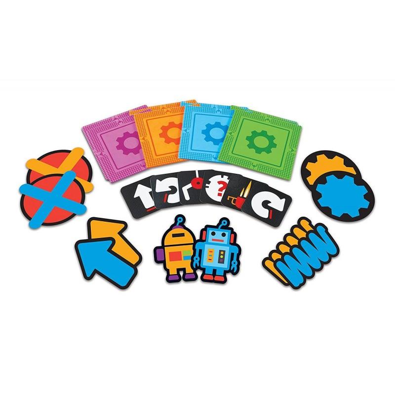 Joc de logica STEM Super labirintul, 20 de piese tip covoras, 20 de carduri, 5 - 9 ani 2021 shopu.ro