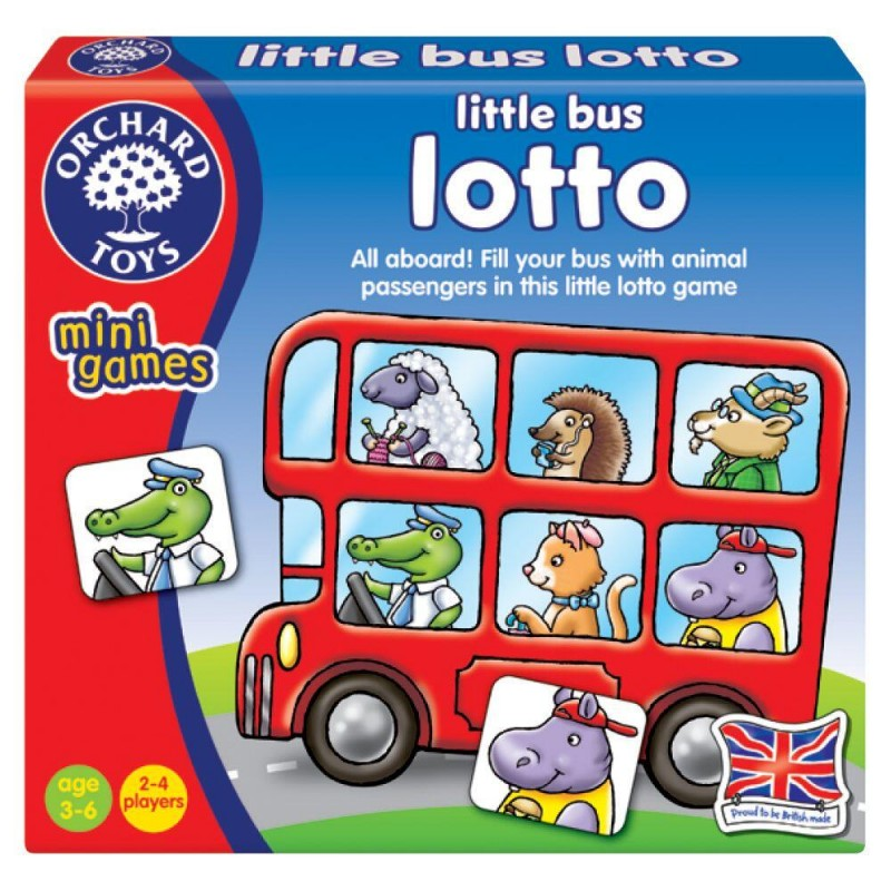 Joc de societate lotto Micul autobuz Orchard Toys, 15 x 14 x 2.5 cm, 2-4 jucatori, 3 ani+ 2021 shopu.ro