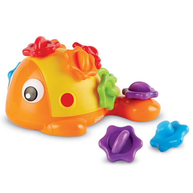 Joc de motricitate Pestele Finn Learning Resources, 12 solzi, plastic, 18 luni+, Multicolor