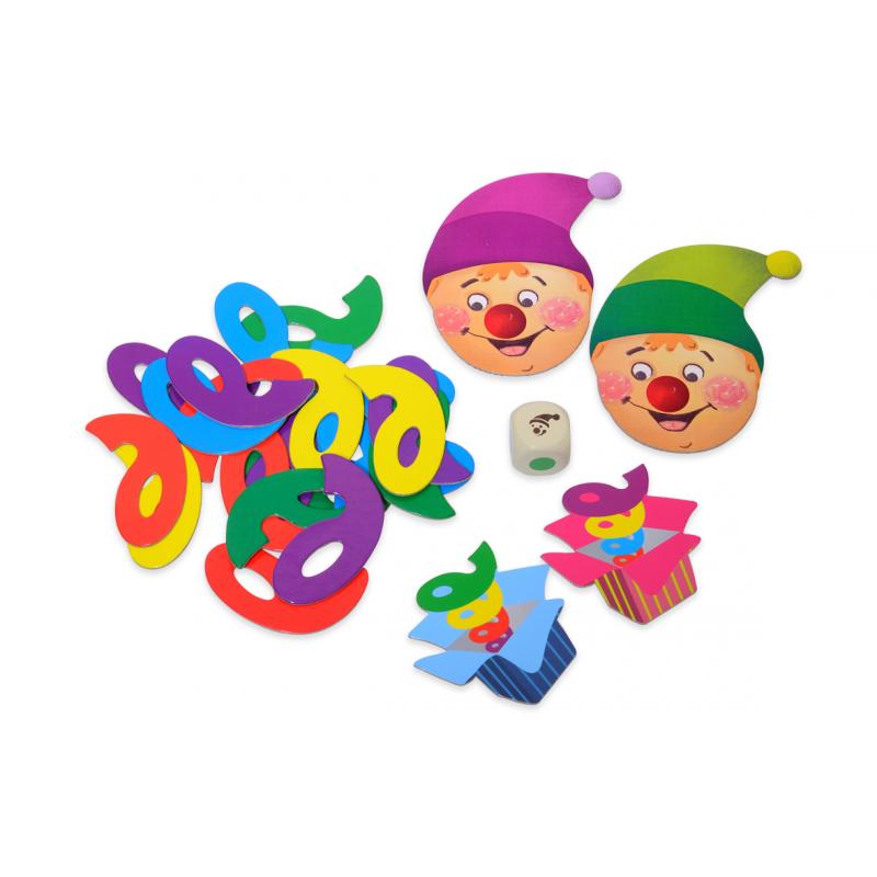 Joc de potrivire Jack in the box, 4 planse cu fete de clovn, 40 de arcuri colorate, 1 - 4 jucatori 2021 shopu.ro
