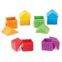 Joc de sortare Casute colorate Learning Resources, 12 piese, 3 - 7 ani