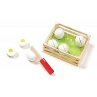Joc de sortat din lemn Eggs Melissa and Doug, 12 piese