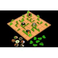Joc de strategie Claim and Save, 144 piese decorate, 64 jetoane cu animalute, 2 - 4 jucatori