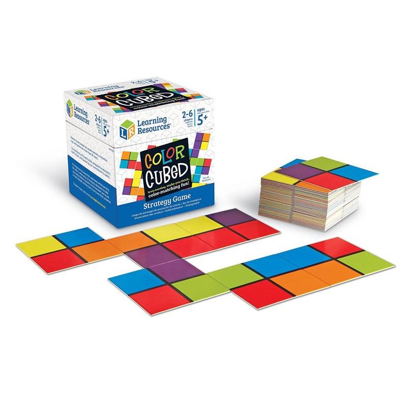 Joc de strategie Cubul culorilor Learning Resources, 40 de carduri, 5 - 9 ani 2021 shopu.ro