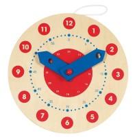 Joc din lemn Invata Ceasul Goki, 10 cm, lemn