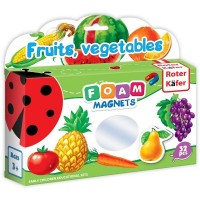 Joc educativ Lumea in Magneti Roter Kafer, 32 piese, 1 an+, Fructe si legume