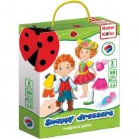Joc educativ magnetic Snappy dressers Roter Kafer, 3 ani+