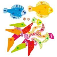 Joc educativ Pestisorii colorati Goki, 3 ani+