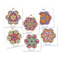 Joc Fantacolor Pixel Mandala Daisy Quercetti, 1200 piese, 5 ani+
