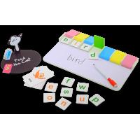 Joc interactiv Invatam sa scriem cu pisicuta, 90 de carduri cu imagini si cuvinte, 4 - 8 ani