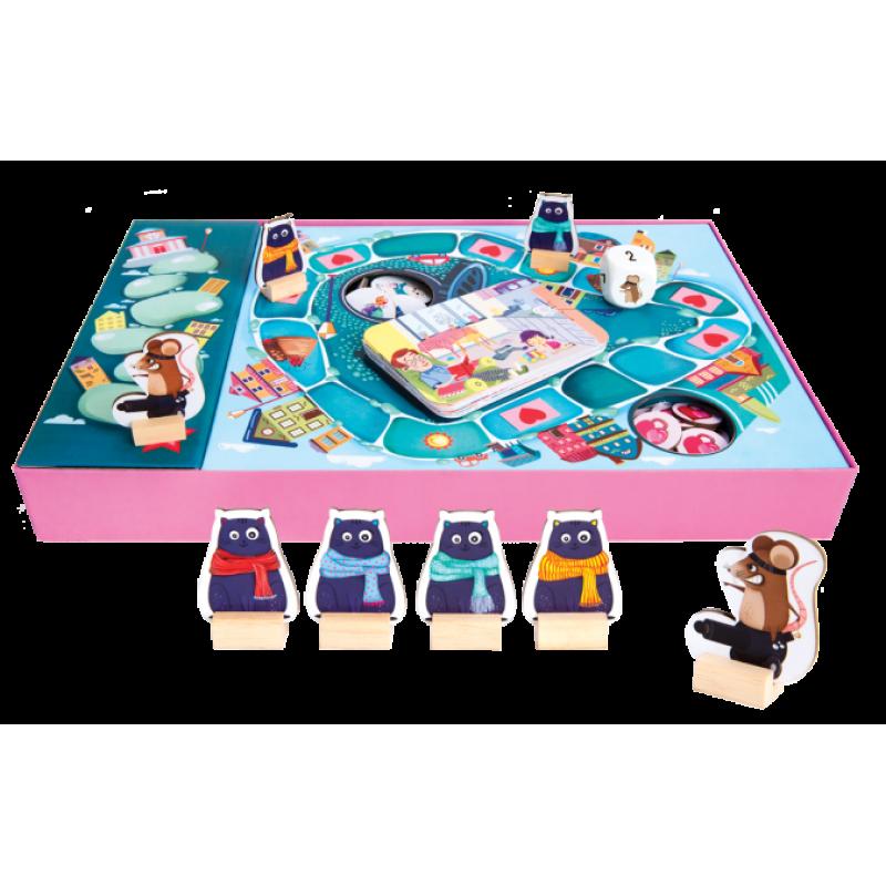 Joc interactiv Pisicutele amabile, 20 jetoane, 20 talismane, 2 - 4 jucatori 2021 shopu.ro
