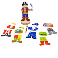 Joc magnetic Costume de carnaval BigJigs, 9.8 x 9.8 x 21.2 cm, 3 ani+