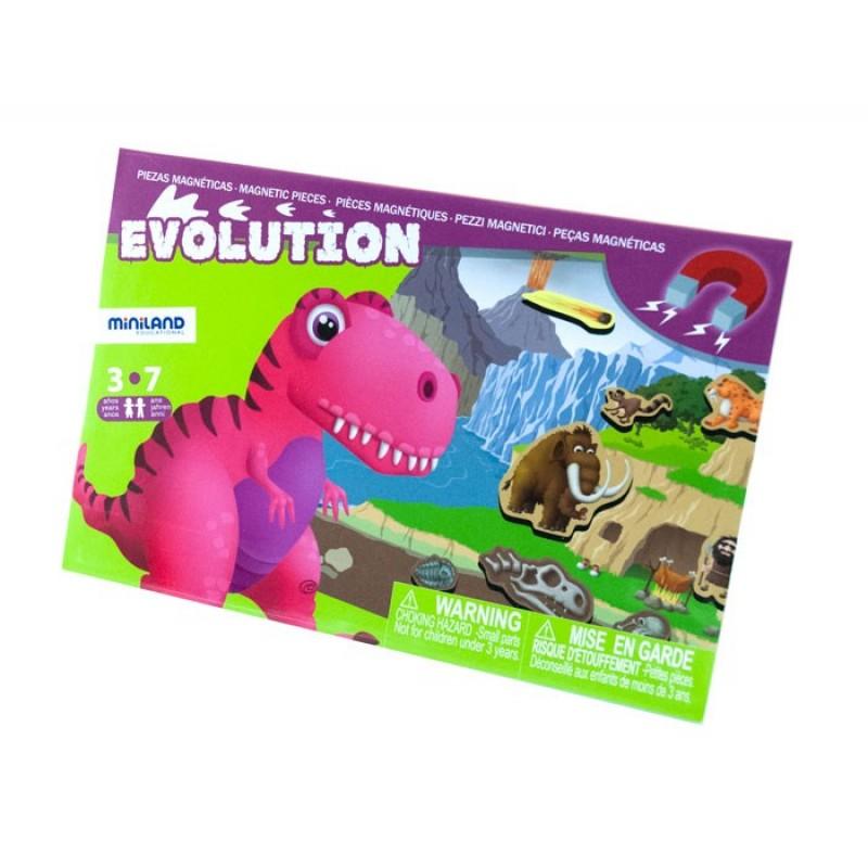 Joc magnetic Descopera Evolutia speciilor Miniland, 19 piese 2021 shopu.ro