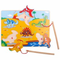 Joc magnetic Dinozaurii fiorosi, 30 x 1 x 22 cm, 18 luni+