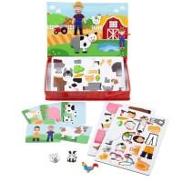 Joc magnetic Distractie in livada Brainstorm, carduri cu imagini incluse, 3 ani+