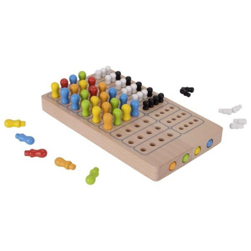 Joc de societate Master logic Goki, 21 x 12 x 2.5 cm, lemn, 1-4 jucatori, 7 ani+ 2021 shopu.ro