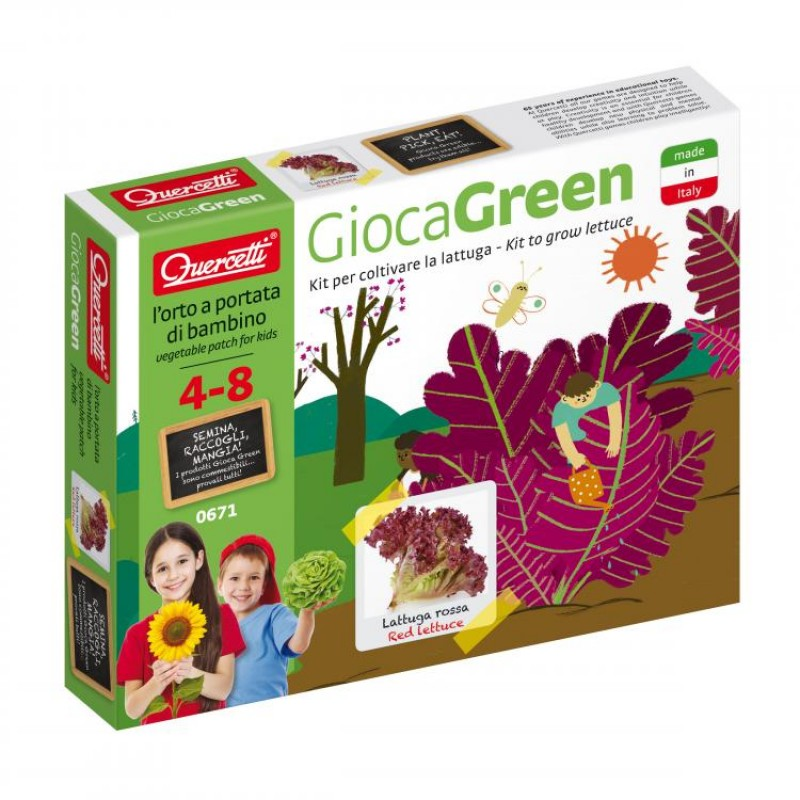 Joc Micul Gradinar Cultiva Salata Quercetti, 4 ani+