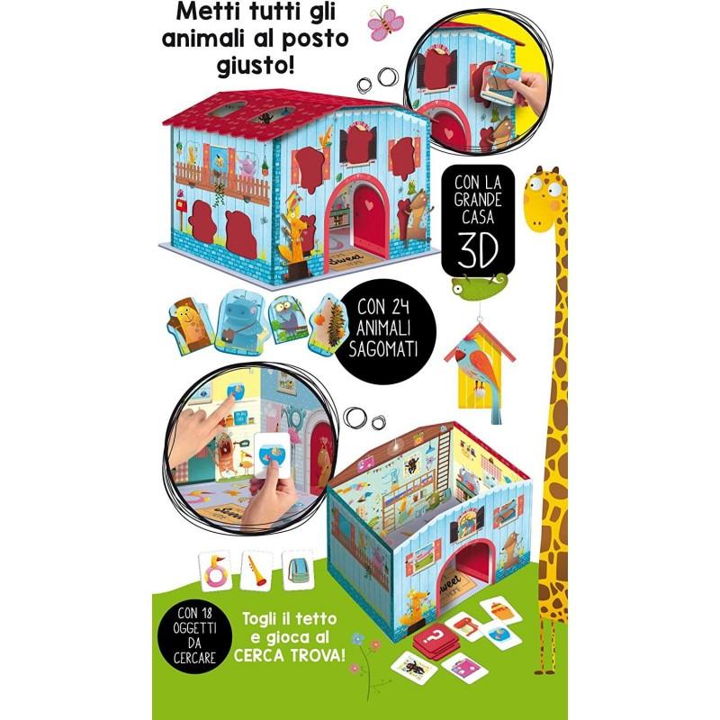 Joc Montessori Casuta animalelor fantastice Lisciani, 3 ani+ 2021 shopu.ro