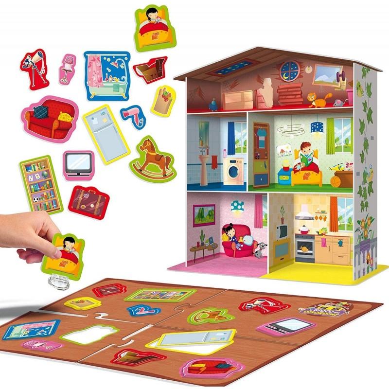 Joc Maxi Montessori Casuta mea Lisciani, 3 ani+, puzzle inclus 2021 shopu.ro