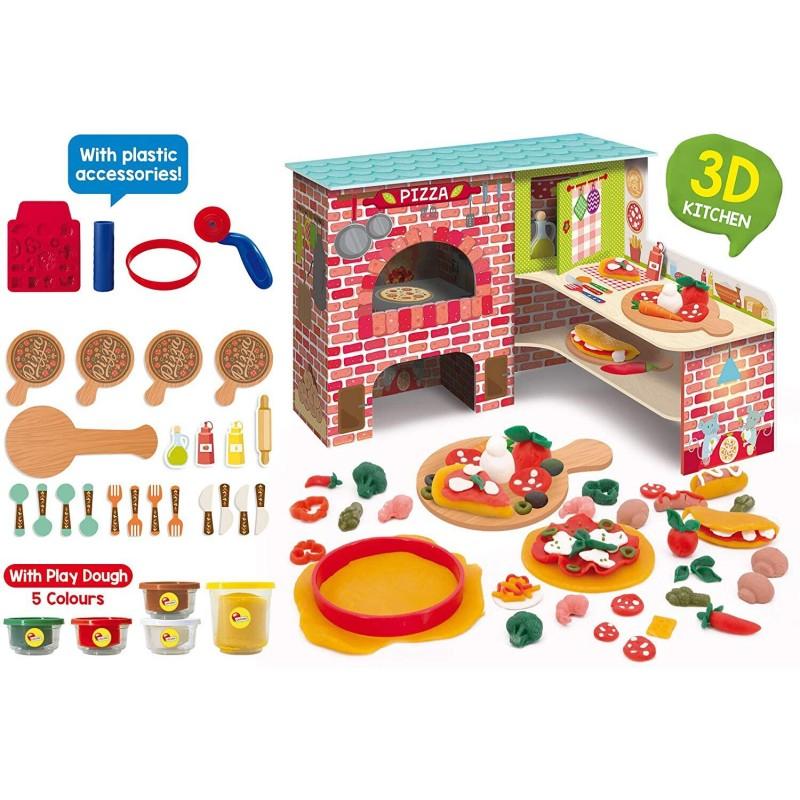Joc Montessori Pizzeria mea Lisciani, 3 ani+, 25 accesorii 2021 shopu.ro