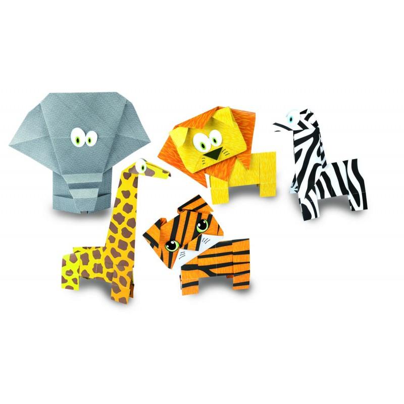 Joc Origami 5 Animalute salbatice, 55 de coli 2021 shopu.ro