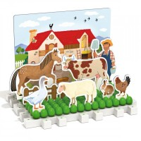 Joc educativ Montessori Play Habitat Quercetti, 126 piese, 3-6 ani