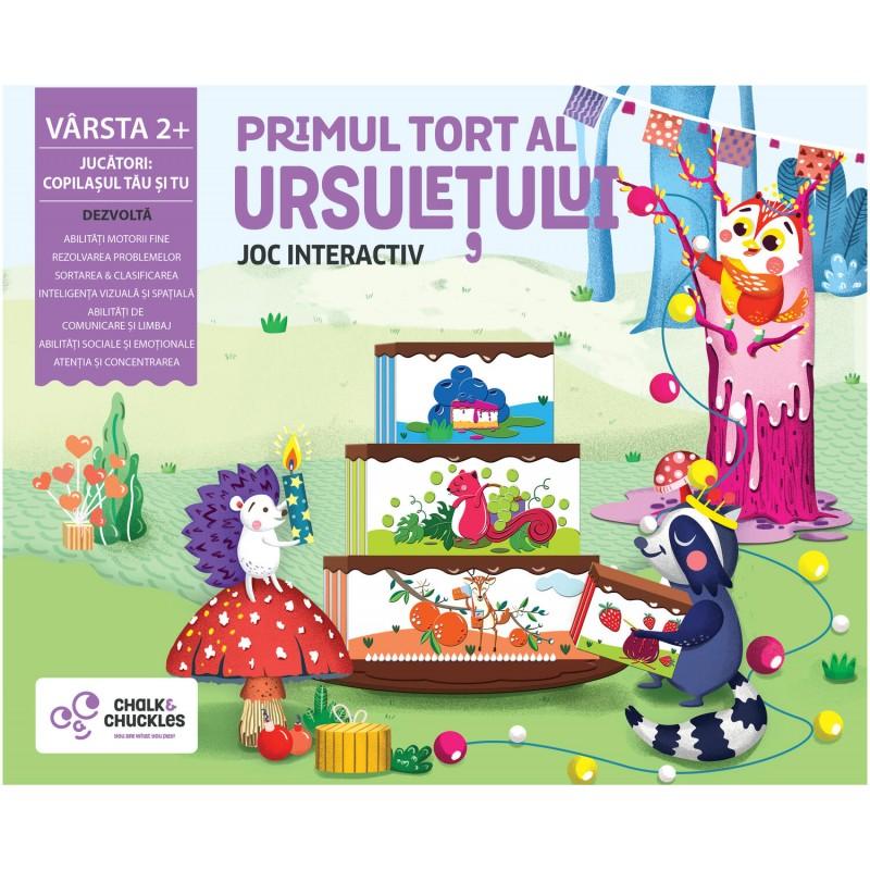 Joc Primul tort al ursuletului Chalk and Chuckles, 2 jucatori, 2 ani+ 2021 shopu.ro
