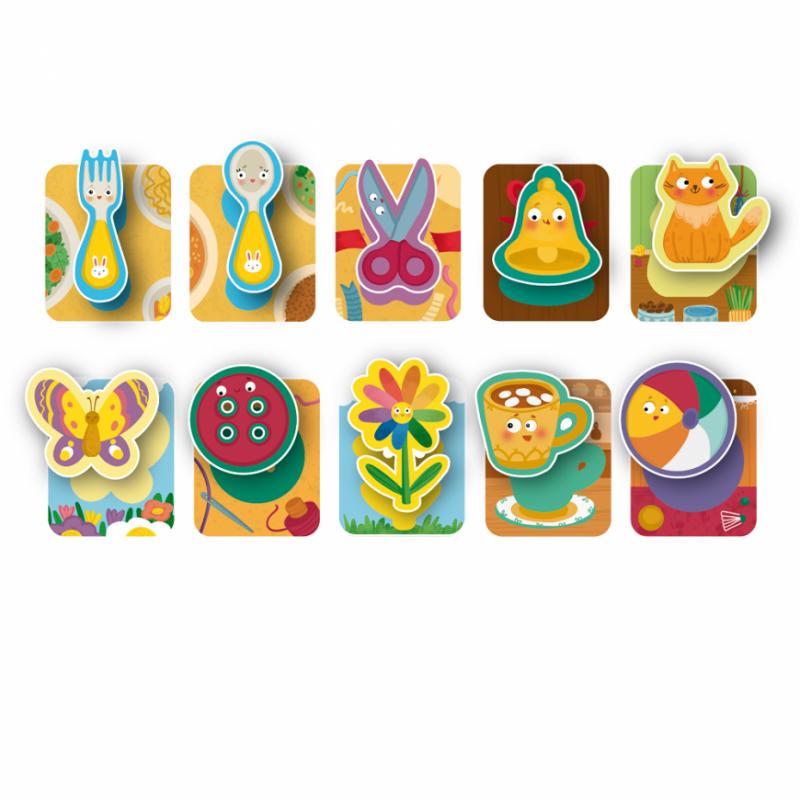 Joc de societate tactil Ghice ce e? Dodo, 10 carduri cu imagini colorate, 3 ani+ 2021 shopu.ro