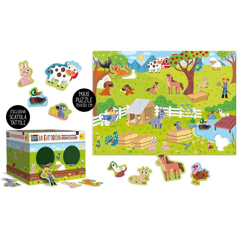 Joc tactil Montessori Ferma Lisciani, 3 ani+, puzzle inclus 2021 shopu.ro