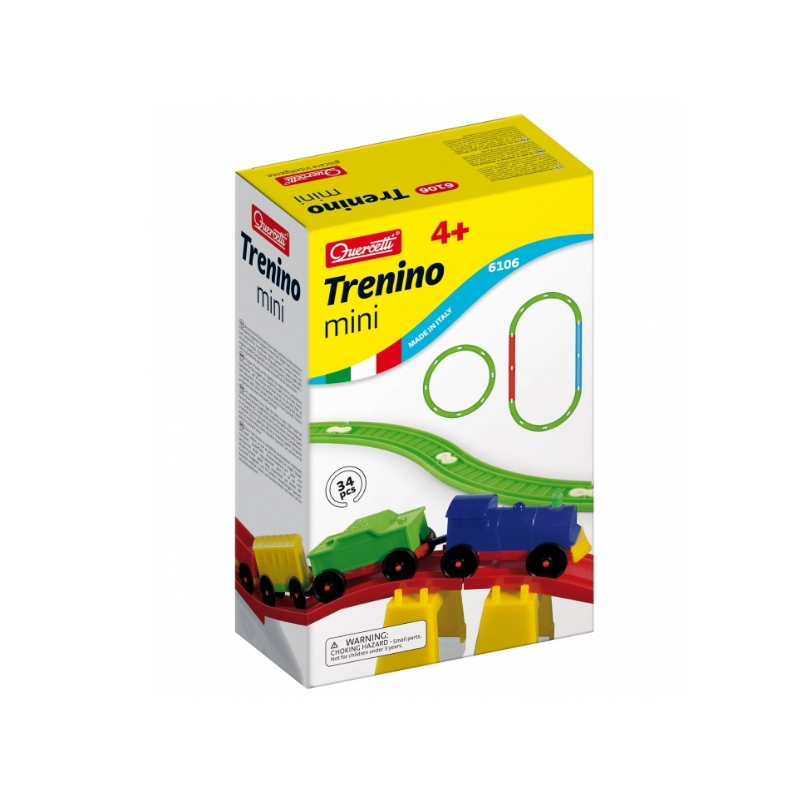 Joc Trenino Mini Quercetti, 32 piese, 4 ani+ 2021 shopu.ro