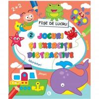 Carte pentru copii Jocuri si exercitii distractive 2 Editura Kreativ, 80 pagini, 3-10 ani