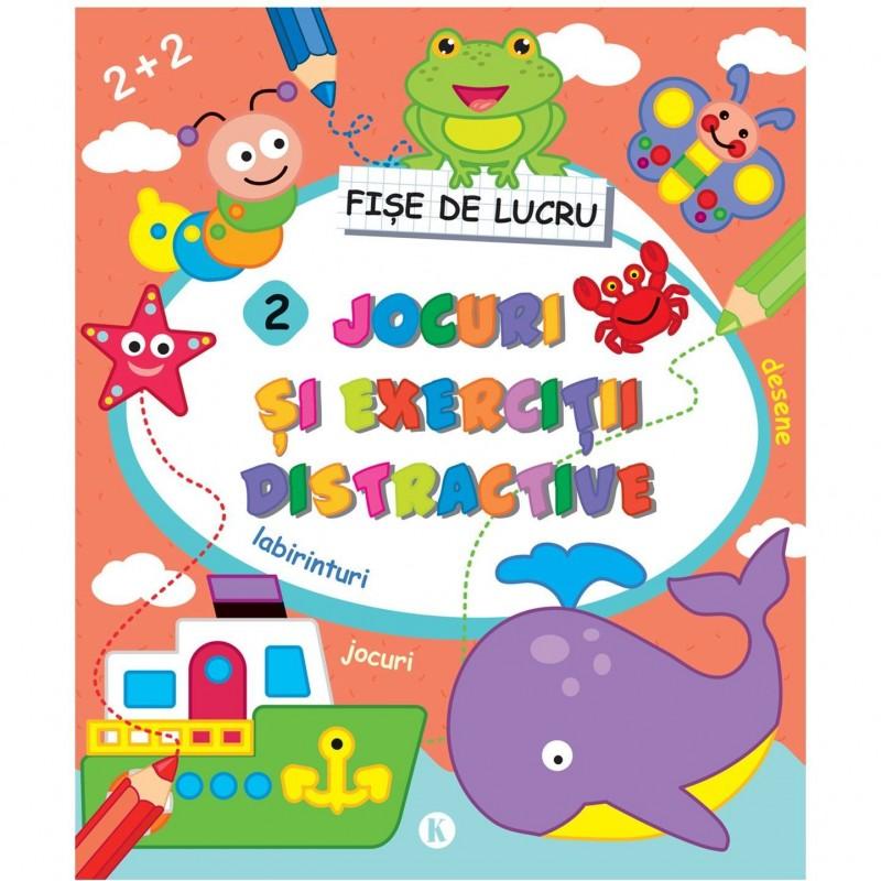 Carte pentru copii Jocuri si exercitii distractive 2 Editura Kreativ, 80 pagini, 3-10 ani 2021 shopu.ro