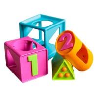 Jucarie bebe Cubul inteligent Fat Brain Toys, dezvolta abilitatile motorii fine