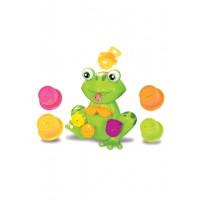 Set 10 jucarii de baie Ludi, 12 luni+, model broasca, Multicolor